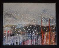 Meikle Millyea, Milldown and Millfire, Rhinns of Kells. Snow painting Galloway