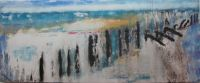 coast sea tide water painting