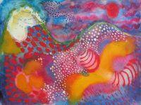 playfull colour joy painting watercolour