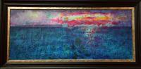 sunset Kames Argyll painting secret coast collage acrylic painting