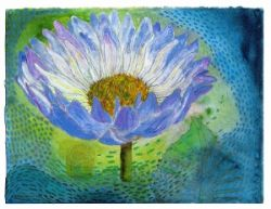 Water lilly giclee print from original painting